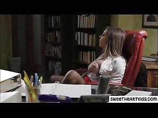 Lesbian office masturbation and fucking