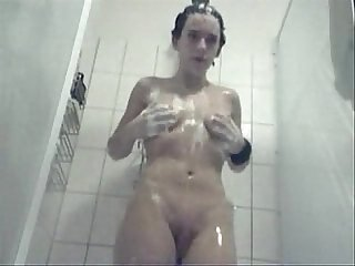 Teen am caught in the batroom shavin Kitty n playing with it all homemade