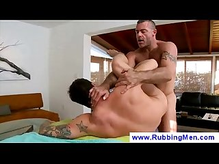 Gay masseur makes move on straight guy