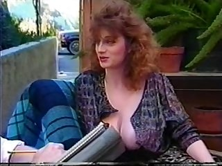 busty belle patio scene romp