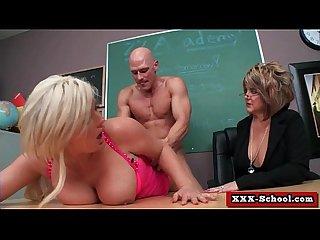 Big tit fucked hard at school 16