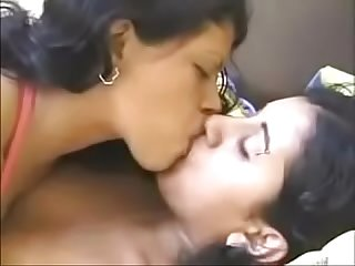 Indian lesbian kissing