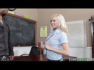 Cute blonde elaina raye rammed hard by her prof