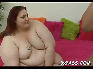 Nasty plump whore gets banged by pal like never before in life