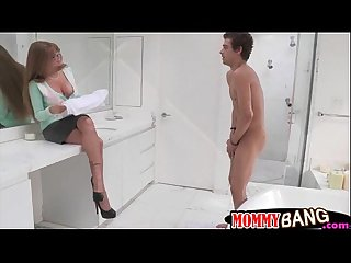 Busty stepmom darla crane horny threeway with teen couple
