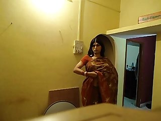 Sangeeta Desi Crossdresser Showing Boobs