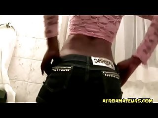 perfect blowjob and fucking with ebony at public toilet