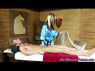 Jizz mouth masseuse sucks