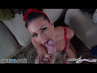 Jessica jaymes gets down on her knees and suck your big hard dick big boobs