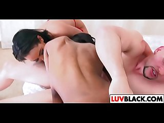Ava Sanchez and Ajaa Xxx share a dick