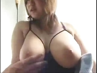 Busty amateur asian gets her tits fondled and licked