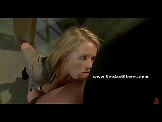 Slutty looking babe used in bondage sex