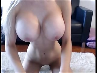extra thin chick with huge fake tits