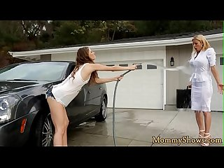 Lovely stepdaughter tribbing her stepmom