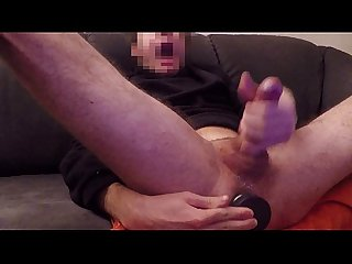 Super massive cumshot with anal orgasm