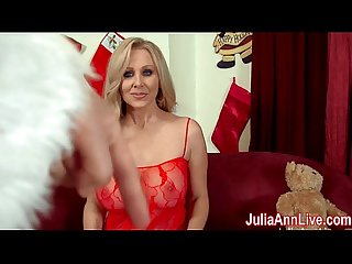 Busty milf julia ann sucks off santa