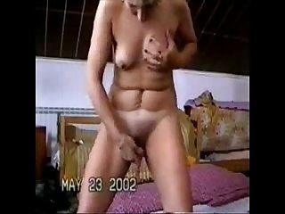 A great stolen video of my gorgeus mum having fun on web cam