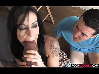 Chastits Cuckold watching his Hotwife Vanessa Naughty Taking A BBCA BBC