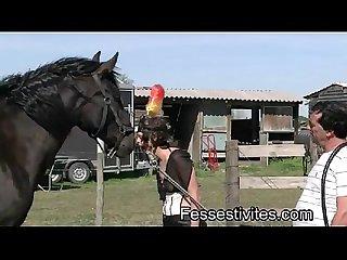 Pony girl en camargue