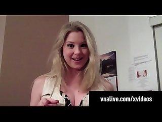 Sunny Lane Sucks Neighbor's Cock in Home Video VNALive.com!