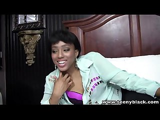Teenyblack sexy ebony teen first time interracial porn