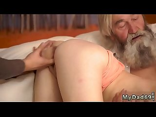 Tan babe unexpected experience with an older gentleman
