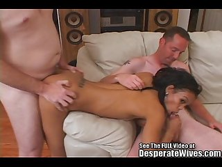 Black asian mix hottie wife swallows