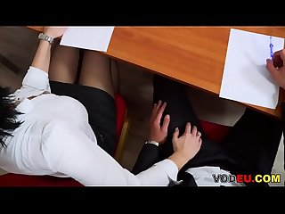 VODEU - Hot MILF gets fucked in the office