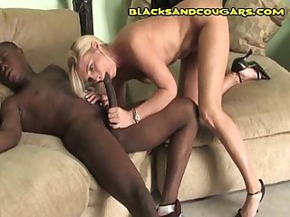 Interracial Cougar With Boy