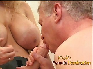 Busty milf dominatrix humiliates her slave with some hardcore pegging-6