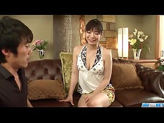 Sweet Nao Mizuki in rough Asian threesome porn play
