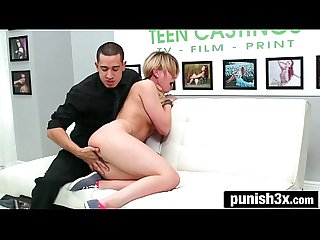Cute blonde model wannabe abby Paradise has to endure domination to get a job