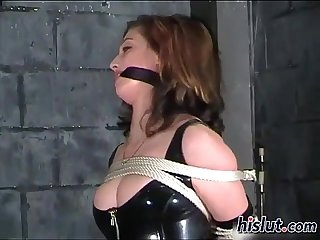 This slut was gagged