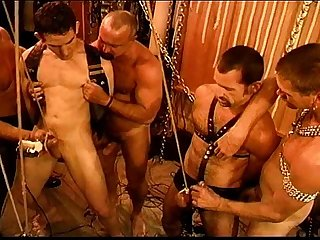 Five man sensual CBT, BDSM orgy, pt 1