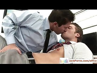Office cock gay gays fucked in the office video01