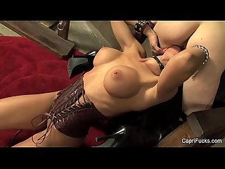 The Fetish Chair With Capri Cavanni