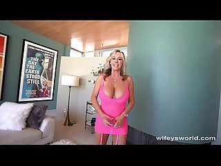 Busty milf sucks cock for jizz facial