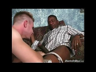 Blonde dude gets assfucked by black men