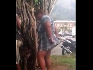 Fat aunty sex outdoor