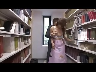Japanese student f. orgasm and sex in library 2