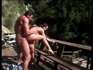 Amazing slut fucking outdoor in a park
