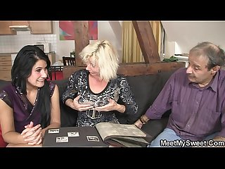 Sweetie gets lured into 3some by her bf S parents