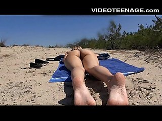 Blonde teen nude at beach