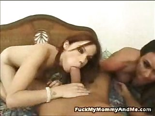 Mother daughter riding a cock