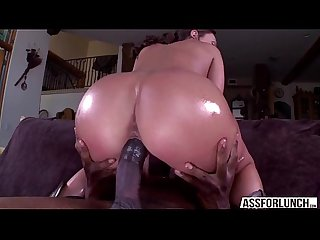 Olivias sweet pussy creams by a big black meat boyfriend