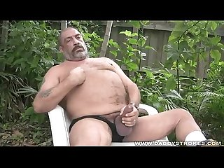 Joe jerks his fat tool outside