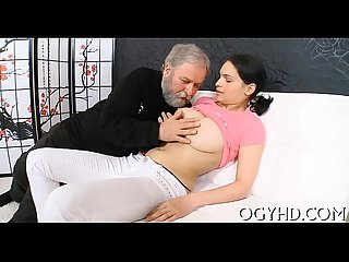 Steaming juvenile chick fucks old dude