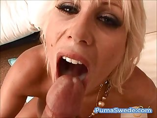 Big titted puma swede swallows a load poolside