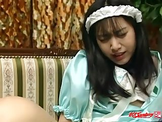 Japanese maid doggystyle uncensored jav