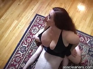 Poor slave is smothered by mistress' big fat ass